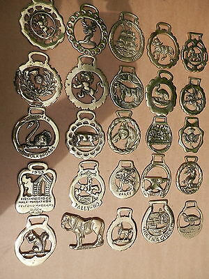 A Unique Collection Of 25 Rare And Vintage Horse Brasses.