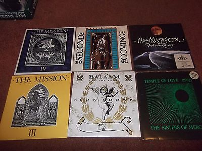 """A Job Lot Of 6 Gothic   7""""  Singles.sisters Of Mercy,mission Etc.all Ex- / Ex."""