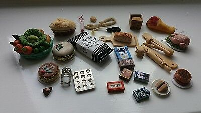 Dolls House Miniatures Job Lot Kitchen Items - Food & Equipment