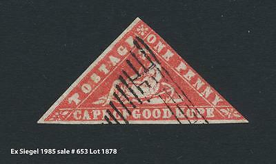 CAPE OF GOOD HOPE 1861, 1d WOODBLOCK, VF USED (EX SIEGEL) SG#13a (SEE BELOW)