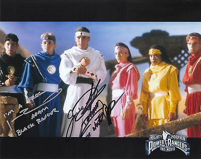 "JASON DAVID FRANK JOHNNY YONG BOSCH POWER RANGERS SIGNED ""10x8"" PHOTO PROOF/COA"