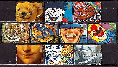 QEII 1991 Greetings stamps Smiles (1st)  used set (j414)