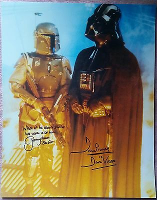 """JEREMY BULLOCH DAVE PROWSE HAND SIGNED HUGE """"16x12"""" STAR WARS PHOTO - SEE PROOF"""