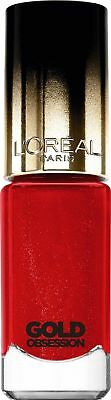 Loreal Color Riche Gold Obsession Nail Polish Varnish Rouge Gold