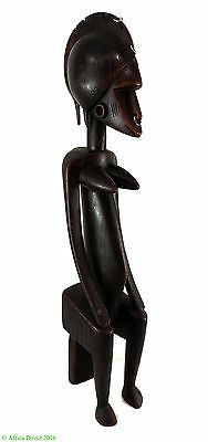Senufo Seated Female Ivory Coast Africa 28 Inch Gelb Collection