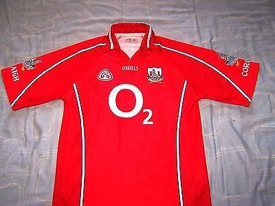 Official Cork GAA Gaelic Football Shirt Jersey Large Man.