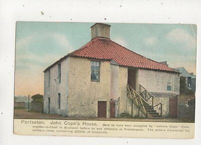 Port Seton John Copes House East Lothian Scotland Vintage Postcard