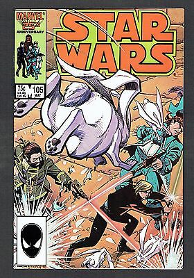 Star Wars #105 Marvel Comics Copper Age 1986 NM- Lucas Force Awakens Last Jedi