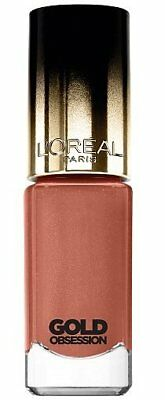 Loreal Color Riche Gold Obsession Nail Polish Varnish Nude Gold