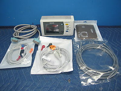 Philips IntelliVue X2 Bedside Transport Patient Monitor Module MMS EKG BP SpO2