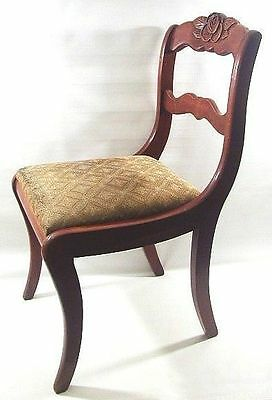 Vintage Willett Dining Room Table Chair Rose and Leaves Back Carved Cherry Wood