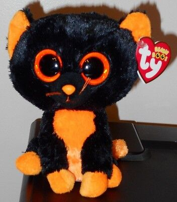 "NM* Ty Beanie Boos ~ MOONLIGHT the 6"" Cat (RED TAG & Glitter Eyes) NM w/MINT TAG"