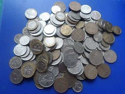 950 Grams Of Old French Franc  Coins  Used.