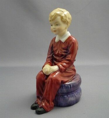 """DAVID"" Vintage Paragon England Bone China Figurine Figure Doll Boy Sitting"