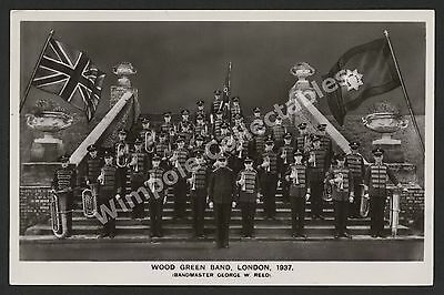 Wood Green Salvation Army Band, 1937, George W Reed. RP Postcard. (3349)