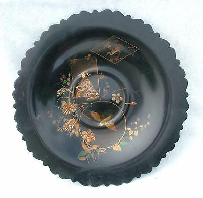 "LARGE 13.75"" ANTIQUE 19th C JAPANESE LACQUER COMPORT - ESTATE CLEARANCE"