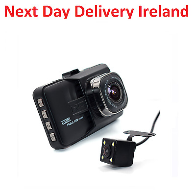 "2.7"" HD 1080P Dual lens LCD Car DVR Night Vision Rear View Dash Camera Recorder"