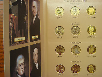 Presidential Dollar Set Complete with Proofs 2007-2009 +8 in Dansco w/ Slipcase