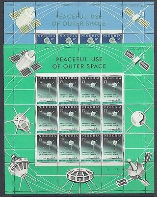 Nigeria 1963 Peaceful Use Of Space And 1965 Quiet Sun Years Sheetlets