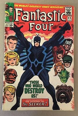 The Fantastic Four #46 1st Black Bolt Appearance Marvel Comics 1966 VG/FN