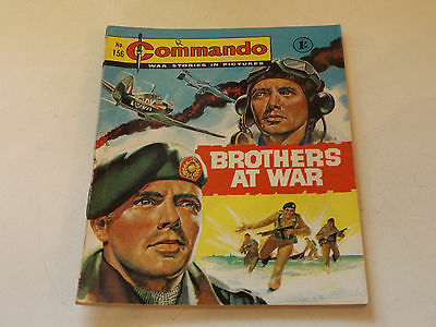 Commando War Comic Number 156,1965 Issue,v Good For Age,52 Years Old,very Rare.