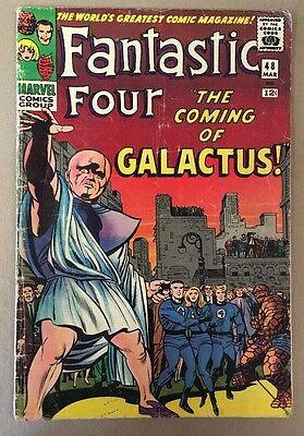 The Fantastic Four #48 1st Silver Surfer Appearance Marvel Comics 1966 GD