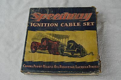 vintage SPEEDWAY ignition cable set with box
