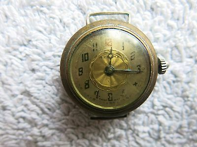 Antique Swiss Made Ww1 Medana Watch Officer's / Trench Red 12 Top For Repair