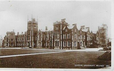 Vintage R.p. Postcard Queens University Belfast Posted 1950