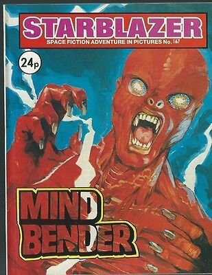 Mind Bender,starblazer Space Fiction Adventure In Pictures,no.167,comic,1986