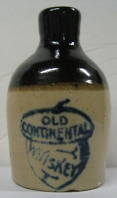 Mini Jug,OLD CONTINENTAL WHISKEY,Blue Stenciling-excellent!