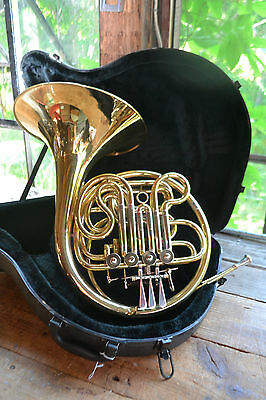 DOUBLE FRENCH HORN! Bb & F NICE PACKAGE! PLAYS GREAT! $400
