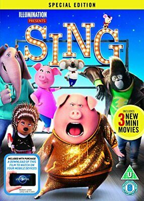 Sing [DVD] [2017] - DVD  Z6VG The Cheap Fast Free Post