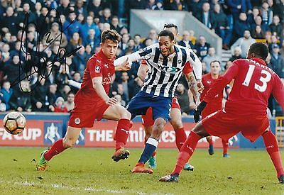 "SHAUN CUMMINGS AUTOGRAPH MILLWALL HAND SIGNED ""12x8"" PHOTO FAC LEICESTER GOAL"