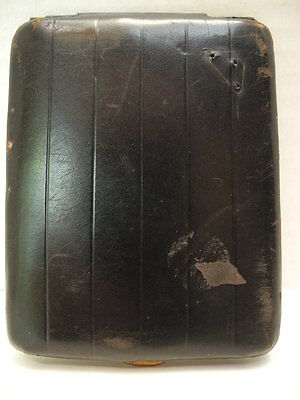 Vintage Black Calf Leather Cigarette Case Made in England