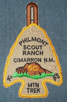 Philmont Scout Ranch 50th Anniversary Mountain Trek Arrowhead Patch PB NT MINT!