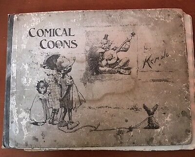 """Antique Book """"Comical Coons"""" R.H. Russell 1st Print 1898 Kemble Black Americana"""