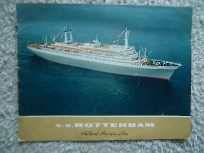 Holland America Line - ss Rotterdam - Deluxe Brochure - 1960