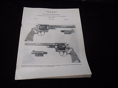 Vintage May 1948 Theodore Dexter GATS Magazine Volume One 1 Number 1 One