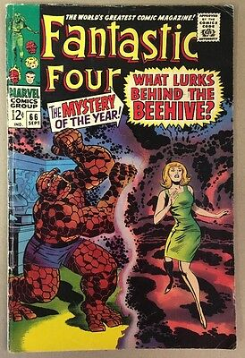 The Fantastic Four #66 Warlock Part One Marvel Comics 1967 VG+ Jack Kirby