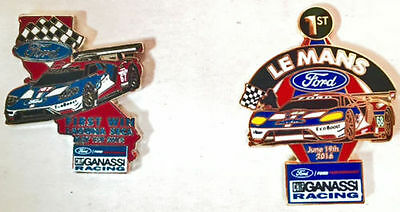 Ford GT first win Laguna Seca and Le Mans winner pins  RARE  2016