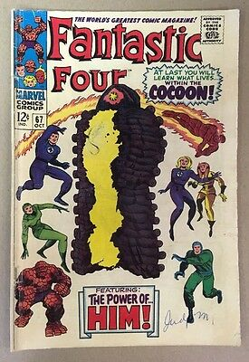 The Fantastic Four #67 1st Warlock Appearance Marvel Comics 1967 VG Jack Kirby
