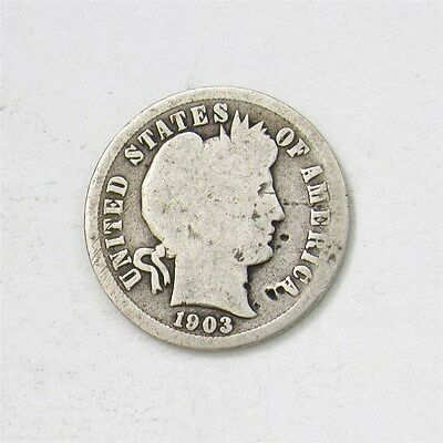 1903-S Barber Dime - Good - 10c Silver Better Date