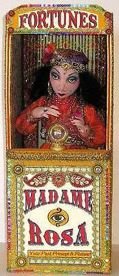 """*new* Cloth Art Doll (E-Pattern) """"madame Rosa, The Gypsy Fortune Teller & Booth"""""""