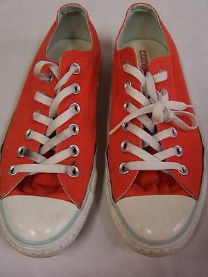 Converse All Star Low Canvas Sneakers Womens Size 8 Mens Size 6 Orange