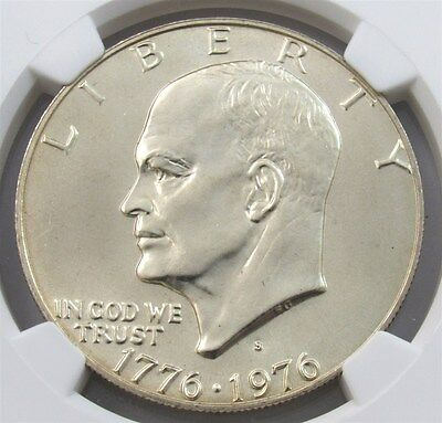 "1976-S Silver Eisenhower ""Ike"" Dollar $1 Certified NGC MS 66 Mint State"