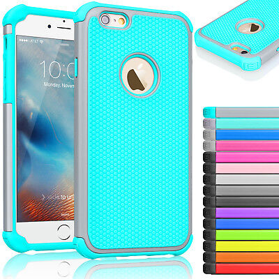 "For iPhone 7 6 6s 4.7"" / 5.5"" Plus Rugged Rubber Hard Shockproof Case Cover"
