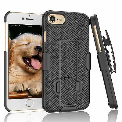 For IPHONE 6 / 6S PLUS SHELL HOLSTER BELT CLIP COMBO CASE COVER WITH KICKSTAND