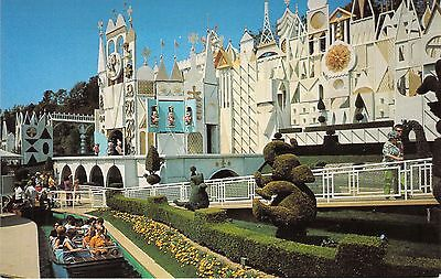 Disneyland, It's A Small World, The Magic Kingdom,  Vintage Postcard