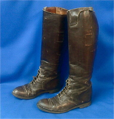 WWI US Army Officer's tall Leather Boots
